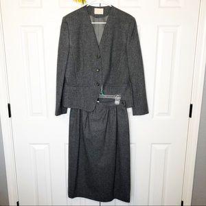 Vintage Pendleton Wool Blazer & Skirt Suit Set